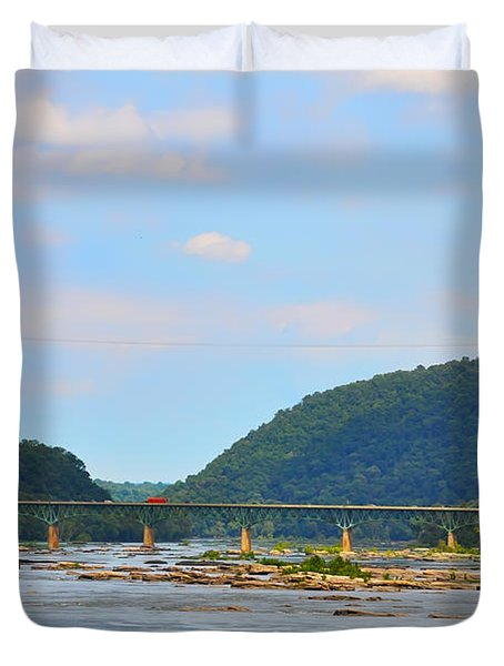 340 Bridge Harpers Ferry Duvet Cover by Bill Cannon