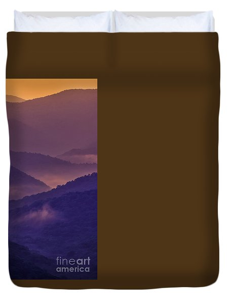 Allegheny Mountain Sunrise Two Duvet Cover
