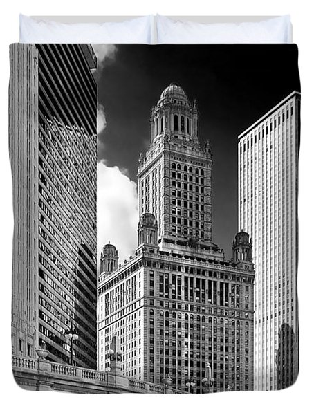 35 East Wacker Chicago - Jewelers Building Duvet Cover by Christine Till