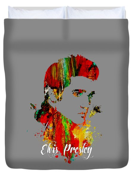 Elvis Presley Collection Duvet Cover by Marvin Blaine