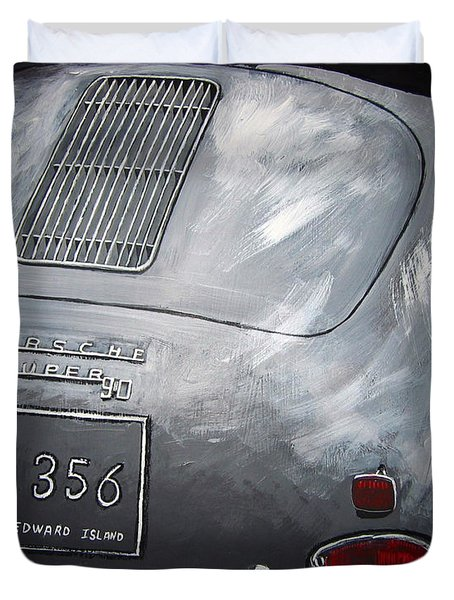 356 Porsche Rear Duvet Cover