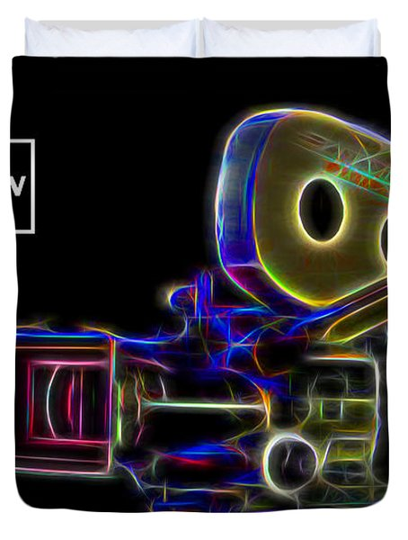 Duvet Cover featuring the digital art 35mm Panavision by Aaron Berg