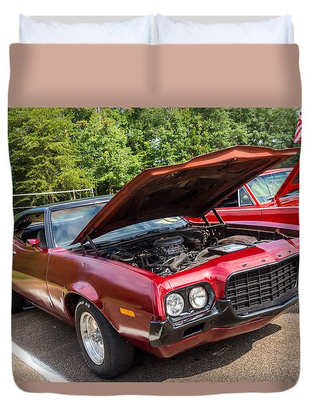 Hall County Sheriffs Office Show And Shine Car Show Duvet Cover