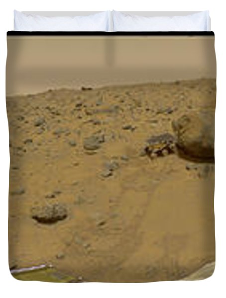 360 Degree Panorama Mars Pathfinder Landing Site Duvet Cover