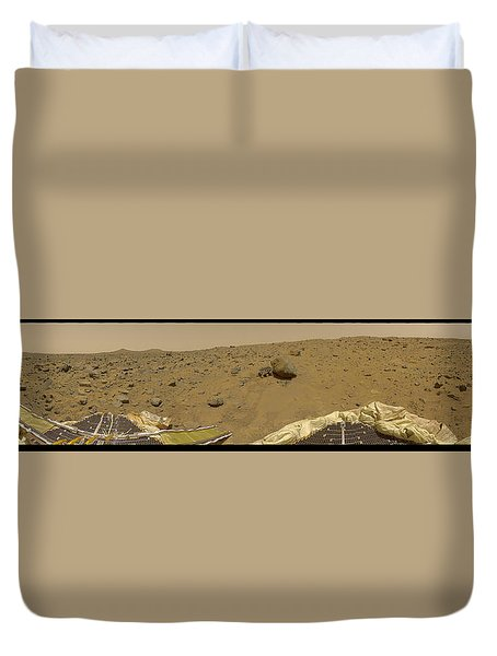 360 Degree Panorama Mars Pathfinder Landing Site Duvet Cover