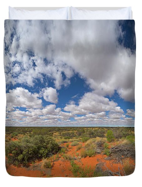 360 Of Clouds Over Desert Duvet Cover