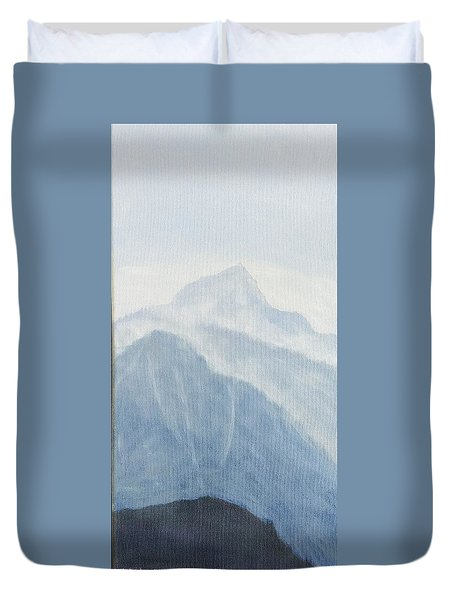 Duvet Cover featuring the painting 36.5616n 118.2251w by Kevin Daly