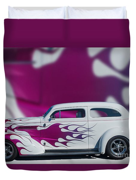 37 Chev Duvet Cover by Jim  Hatch