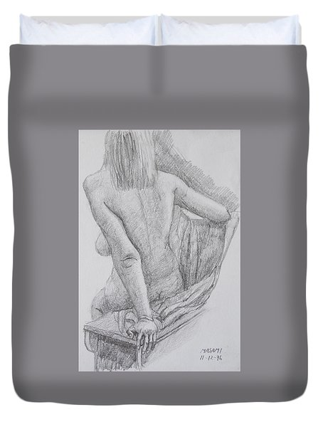 Nude Study Duvet Cover