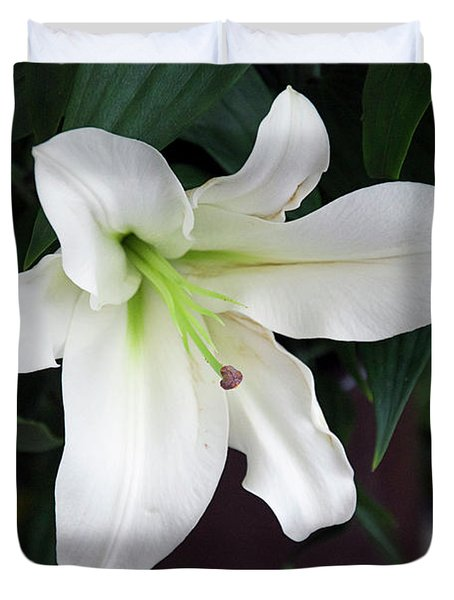 White Lily Duvet Cover by Elvira Ladocki