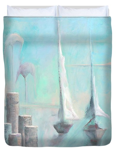Duvet Cover featuring the painting A Morning Memory by James Lanigan Thompson MFA
