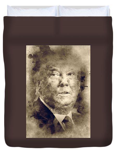 Donald Trump Duvet Cover by Elena Kosvincheva