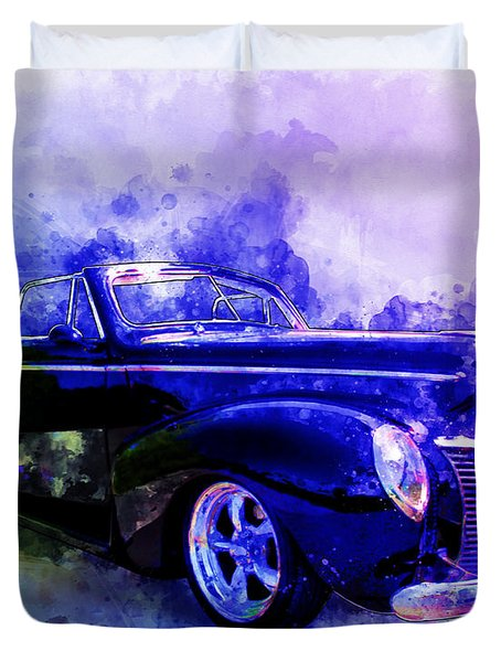 39 Mercury Convertible Watercolour Sketch Duvet Cover