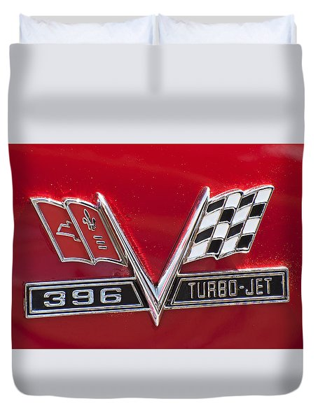 396 Turbo - Jet Duvet Cover