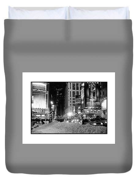 39th Ave Winter Duvet Cover