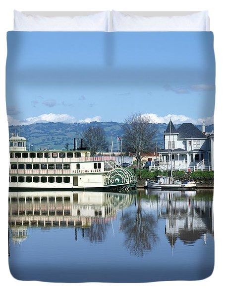 3b6380 Petaluma Queen Riverboat Duvet Cover
