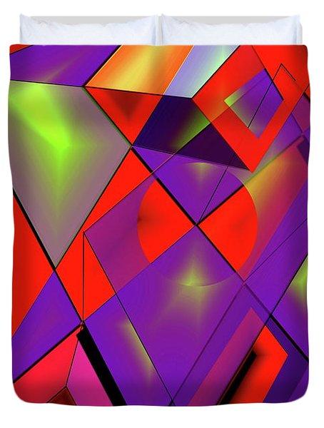 3d-cubes Duvet Cover by Helmut Rottler