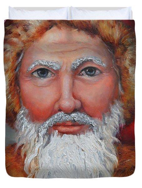 3d Santa Duvet Cover