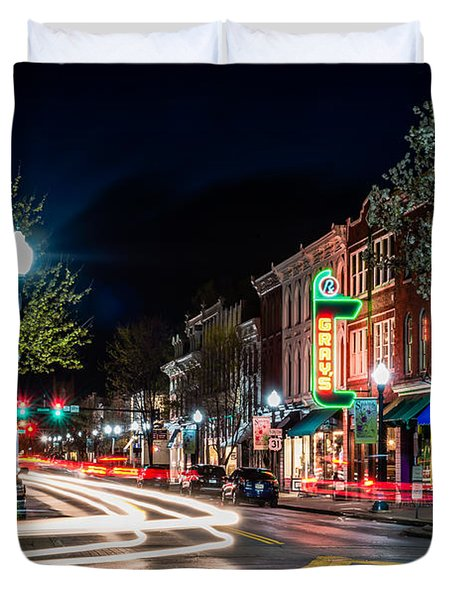 Franklin, Tennessee - 3rd And Main Duvet Cover