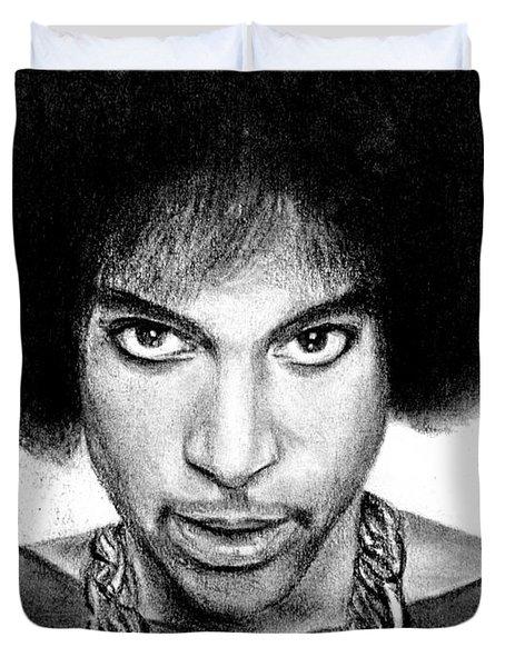 3rd Eye Girl - Prince Charcoal Portrait Drawing - Ai P Nilson Duvet Cover
