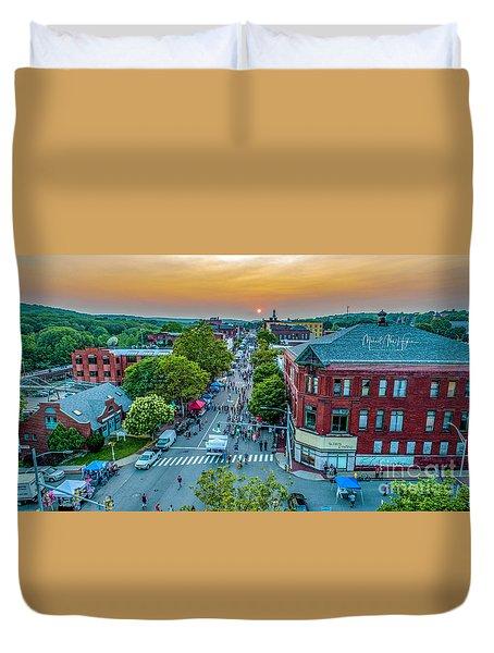 3rd Thursday Sunset Duvet Cover