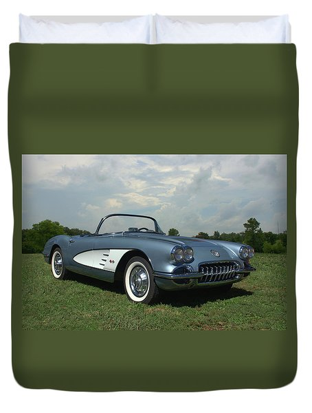 1960 Corvette Duvet Cover