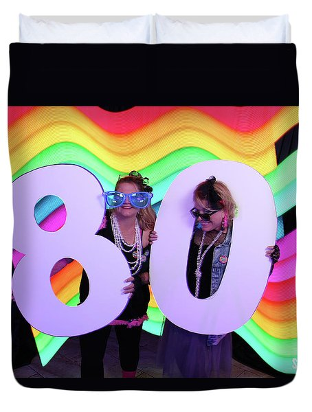 80's Dance Party At Sterling Event Center Duvet Cover