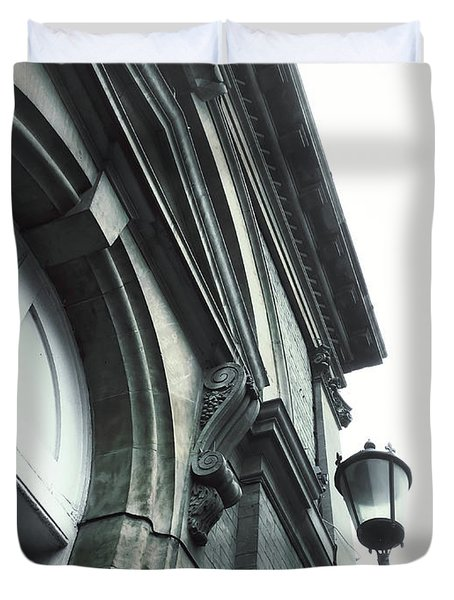 A Building Exterior  Duvet Cover