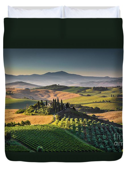 A Morning In Tuscany Duvet Cover