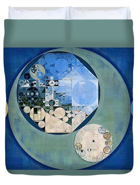 Duvet Cover featuring the photograph Abstract Painting - Bermuda Grey by Vitaliy Gladkiy