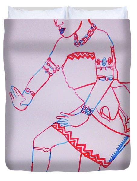 Adowa Dance Ghana Duvet Cover