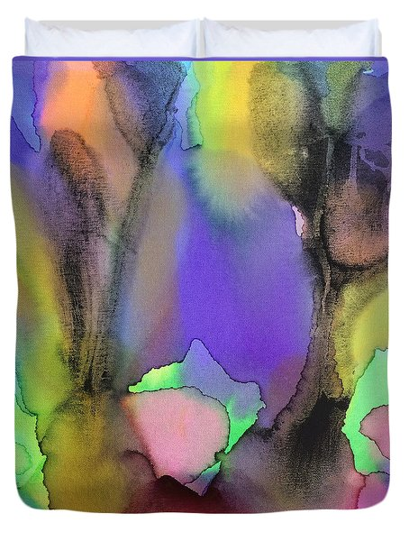 4 Art Abstract Painting Modern Color Signed Robert R Erod Duvet Cover