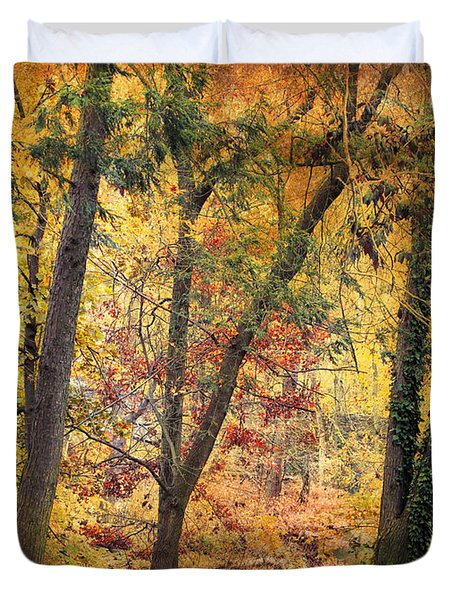 Autumn Canvas Duvet Cover by Jessica Jenney