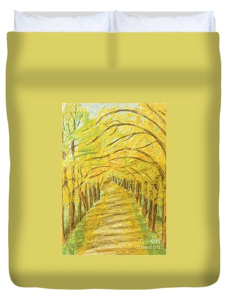 Autumn Landscape, Painting Duvet Cover
