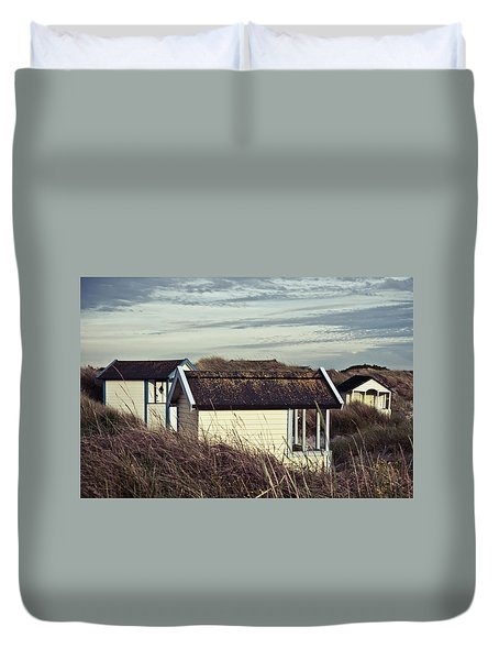 Beach Houses And Dunes Duvet Cover