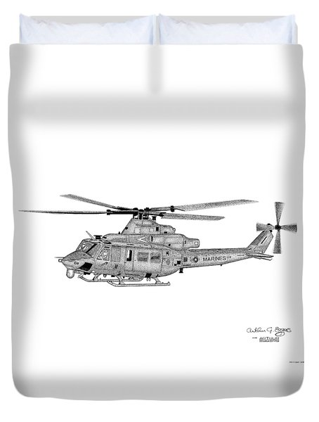 Bell Helicopter Uh-1y Venom Duvet Cover by Arthur Eggers