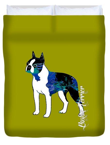 Boston Terrier Collection Duvet Cover