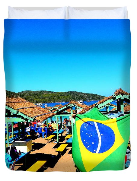 Duvet Cover featuring the photograph Brazil by Beto Machado