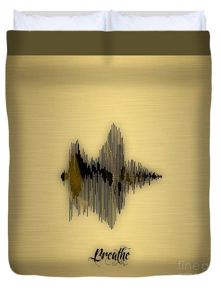 Breathe Spoken Soundwave Duvet Cover by Marvin Blaine
