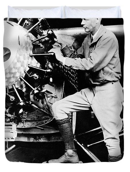 Charles Lindbergh Duvet Cover