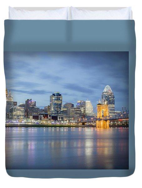 Cincinnati, Ohio Duvet Cover