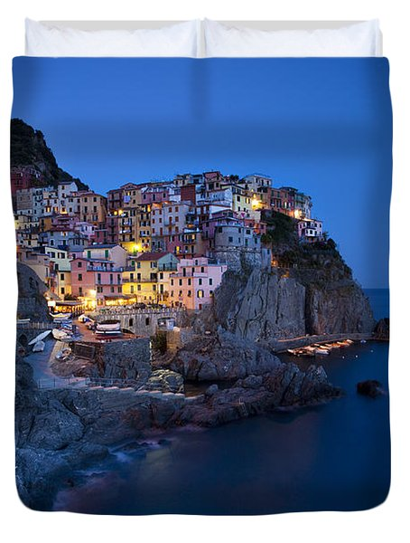 Duvet Cover featuring the photograph Cinque Terre by Brian Jannsen
