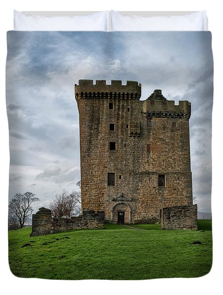 Duvet Cover featuring the photograph Clackmannan Tower by Jeremy Lavender Photography