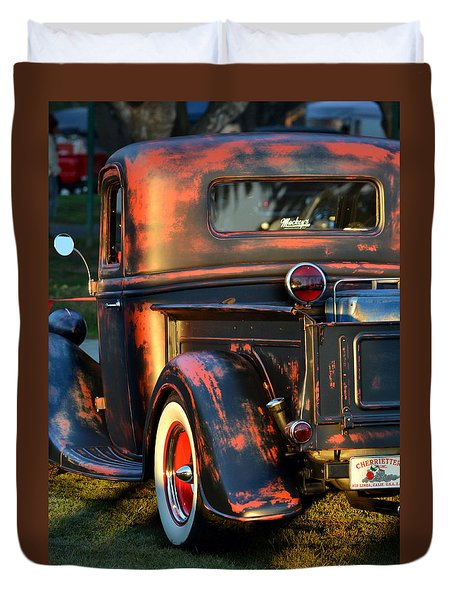 Classic Ford Pickup Duvet Cover by Dean Ferreira