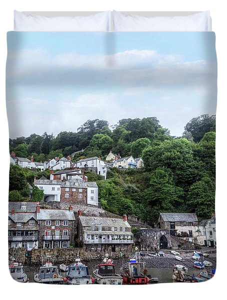 Clovelly - England Duvet Cover