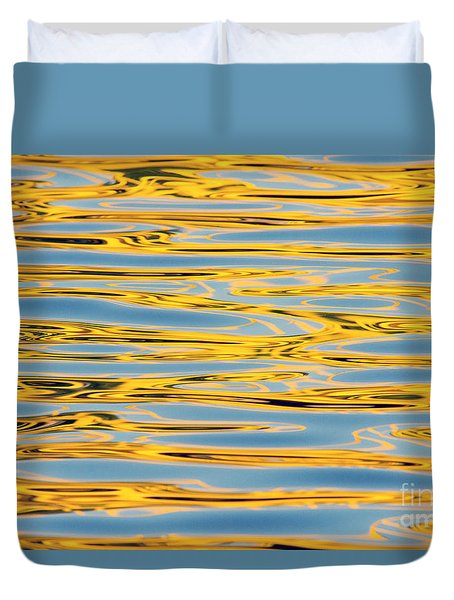 Color Lights On Water Reflection Duvet Cover
