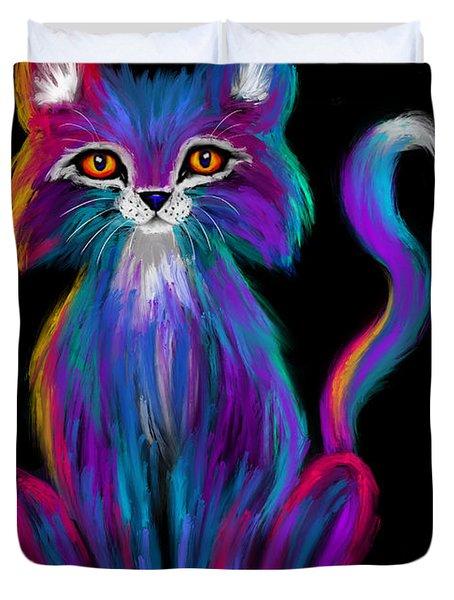 Colorful Cat Duvet Cover