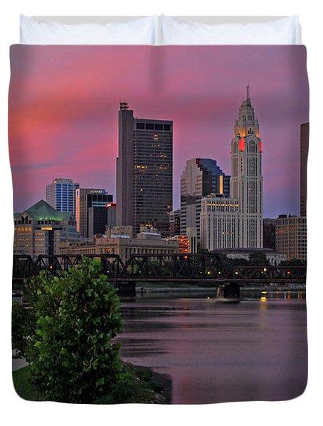 D2l37 Columbus Ohio Skyline Photo Duvet Cover