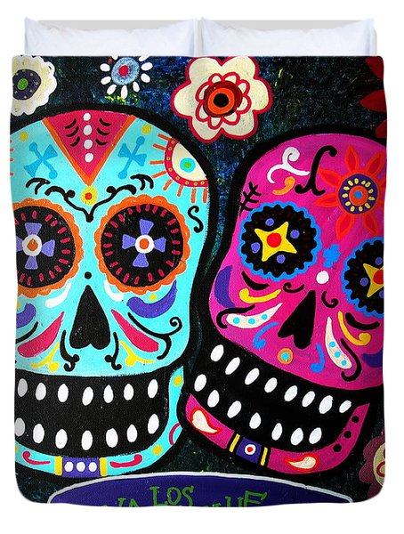 Couple Day Of The Dead Duvet Cover