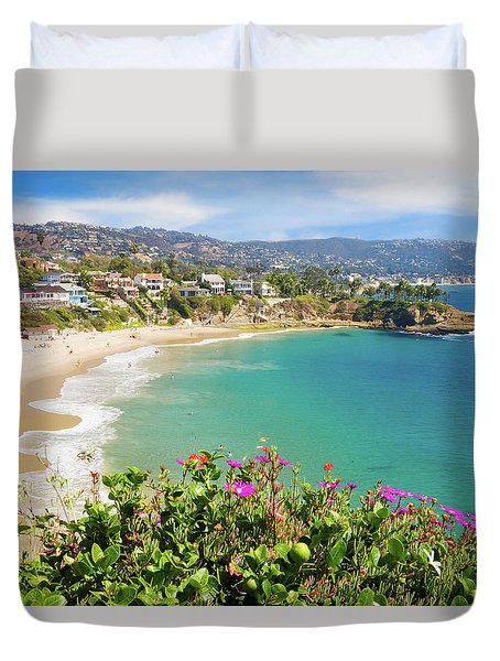 Crescent Bay, Laguna Beach, California Duvet Cover